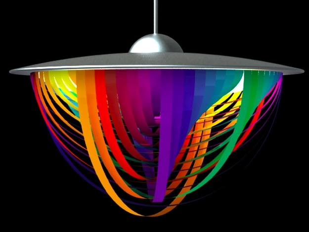 Rainbow Ribbon Celling Lamp