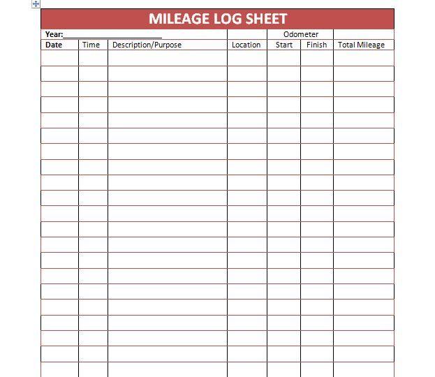 Mileage Log Template 05