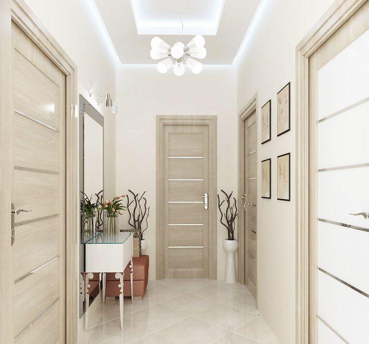 Двухуровневый потолок в маленькой прихожей с рассеянным светом Ремонт маленькой…