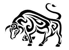 Tribal Zodiac Taurus Bull Tattoo Design