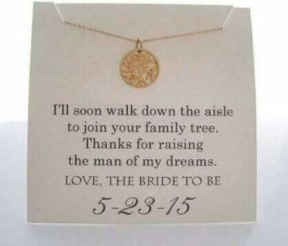 Thanks for raising the man of my dreams love the bride to be