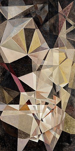 """I Torhamn 1898-1994 """"Space"""" oil on canvas. 160x80cm"""