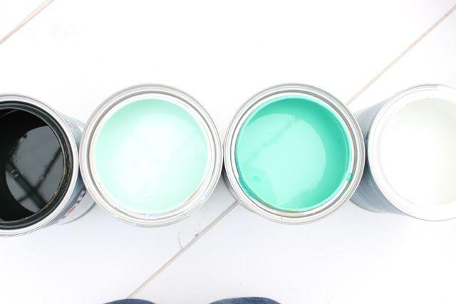 Stap 6: Kies leuke kleuren naar keuze uit, zodat je een mooi effect van kleuren krijgt op je tafelblad.