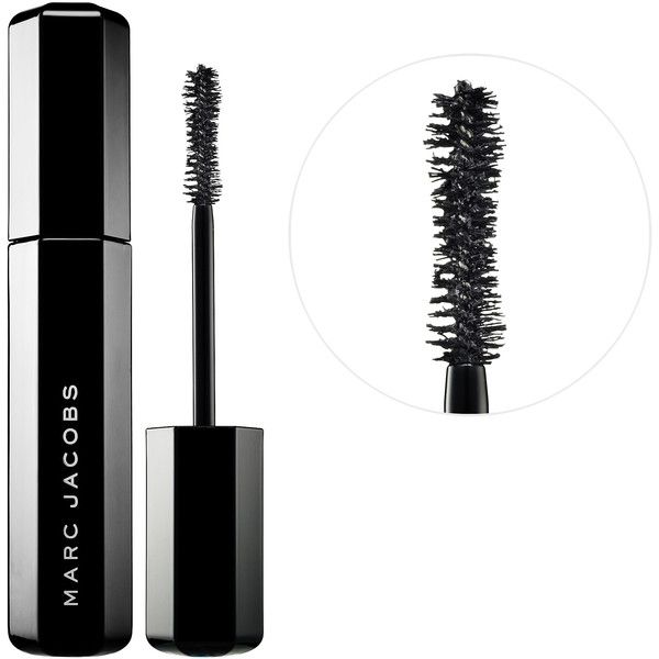 Marc Jacobs Beauty Velvet Noir Major Volume Mascara (€24) ❤ liked on Polyvore featuring beauty products, makeup, eye makeup, mascara, marc jacobs, marc jacobs mascara, smudge proof mascara, voluminous mascara and black eye makeup