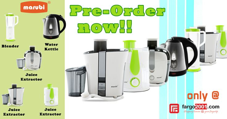 MARUBI everyday household appliances ! Made of the highest quality and technology with affordable price! PRE-ORDER NOW at http://fargo2001.com/home-appliances-104/marubi-308