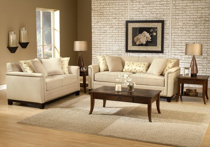 beige couch in living room | Beige Fabric Contemporary Living Room Sofa &  Loveseat Set | Living Room | Pinterest | Brown living rooms, Fabrics and  Living ... - Beige Couch In Living Room Beige Fabric Contemporary Living Room