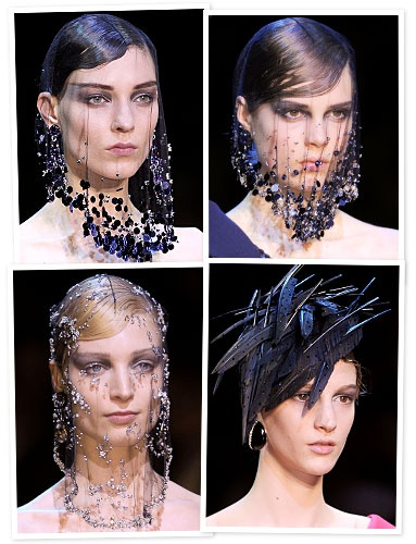 #Armani scored big with its headpieces: Lace designs draped over pristine faces were more haute couture, while Parisian berets topping prim skirt suits made for a extremely wearable look. http://news.instyle.com/photo-gallery/?postgallery=119890#2