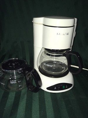 Mr. Coffee 4-cup Coffee Maker Sunbeam with extra 4 cup replacement pot carafe