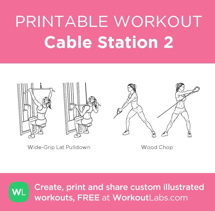 cable machine exercises pdf
