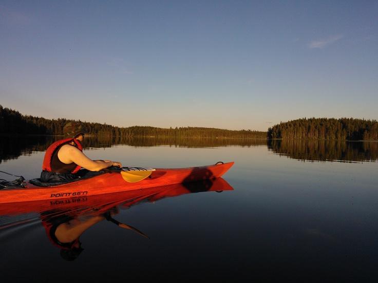 Kayaking at Repovesi
