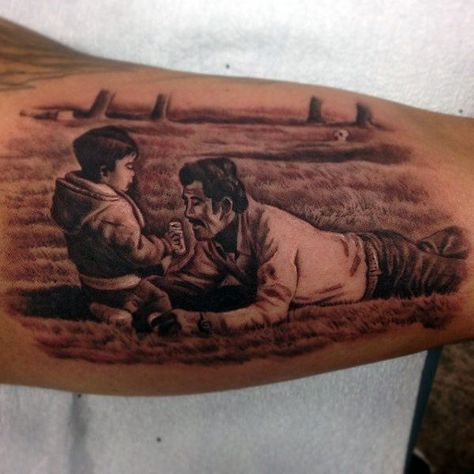 Bicep Father And Son Tattoos