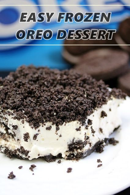 EASY FROZEN OREO DESSERT  – Sweet treats