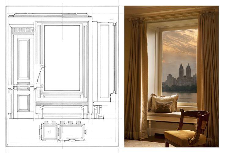 John B. Murray Architect Living Room Window Seat Analytique