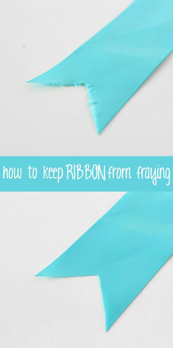 I'm going to be indebted forever to The Experimental Home for this fabulous tutorial on How to Keep Ribbon from Fraying . Pure genius!