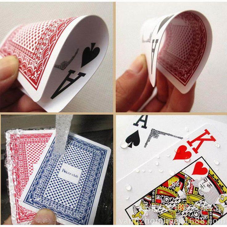 2 ألوان أوراق اللعب بوكر نادي تكساس لعبة البوكر البلاستيك للماء الطاوله uno بطاقة مع الكلمات الكبيرة