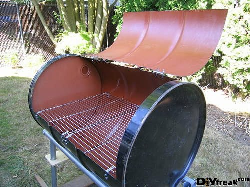 Great Barbeque Grill From An Oil Drum                                                                                                                                                                                 More
