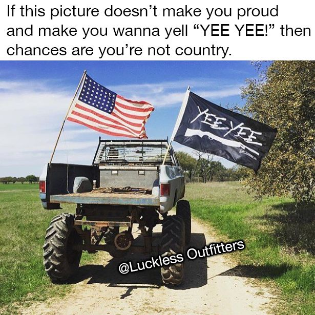 I saw the flag and immediately went yeeyee