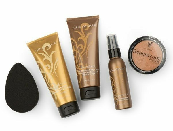 Younique Beachfront Collection! Perfect GLOW: Bronzer, Body Bronzer, Self Tanning Lotion & Spray www.thedivadonna.com