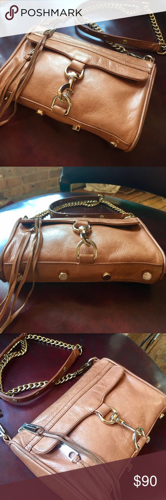 Rebecca Minkoff Mini Mac crossbody bag brown tan Rebecca Minkoff Mini Mac crossbody handbag. Brown/tan. Great condition. Rebecca Minkoff Bags Crossbody Bags