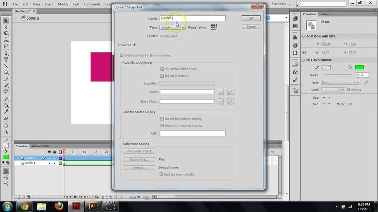 how to create animation in adobe flash cs6
