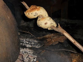 Aussie bush tucker favourite, Damper. Damper is a bread made without yeast and baked over the campfire.
