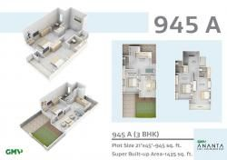 945 Floor Plan http://www.nethomes.in/projects.php