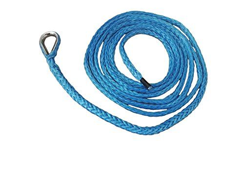 "1/4""10ft ATV Snow Plow Lift Rope,Synthetic Winch Rope,Boat Winch Cable,Snow Plow Attachments (Blue). For product info go to:  https://www.caraccessoriesonlinemarket.com/1-410ft-atv-snow-plow-lift-ropesynthetic-winch-ropeboat-winch-cablesnow-plow-attachments-blue/"