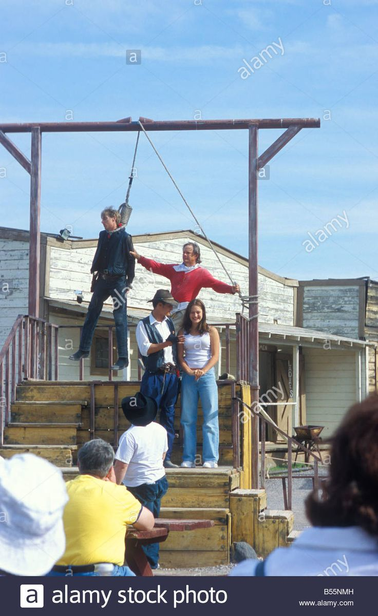 Hanging Show at Wild West City Bonnie Springs Ranch Old Nevada near Las Vegas Nevada USA