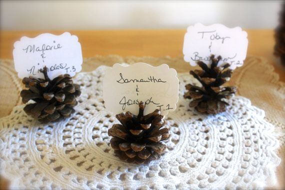 BODA piña tarjetas del lugar rústico Conjunto de por sugarplummoose