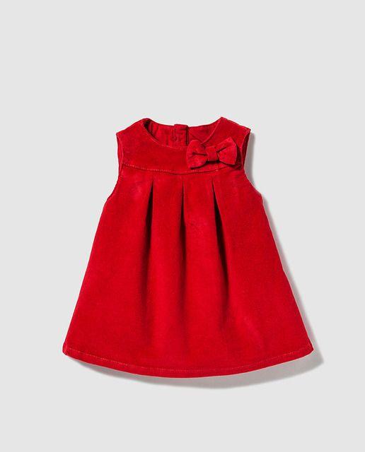 Pichi de bebé niña Freestyle en micropana rojo