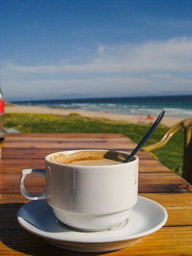 Coffee at the beach! My two loves