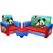 Now who can resist this cute set!Disney - Mickey Mouse Toddler Sofa, Chair and Ottoman Set