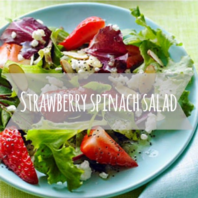 Bliss and Blunders of a Newlywed: Strawberry Spinach Salad!