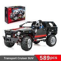Descriptions   589pcs Decool 3341 Transport Cruiser SUV Minifigures Super Jeep Medel King Steerer Bu
