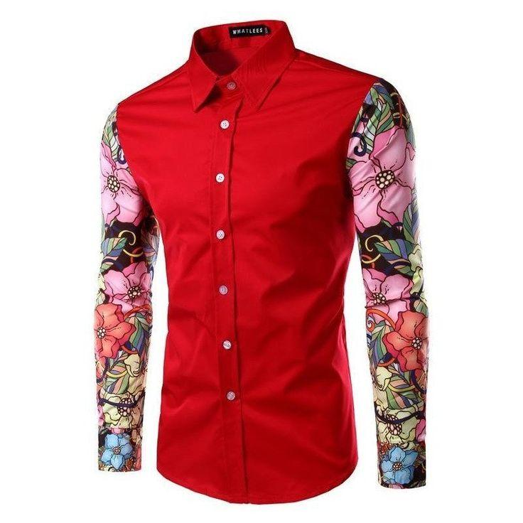 Harajuku Urban Floral Dress Shirt (3 colors)