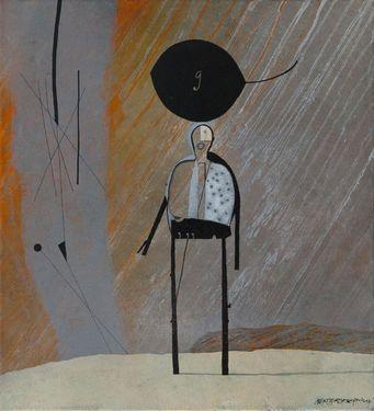 "Saatchi Art Artist Alex Berdysheff; Painting, ""Scarecrow"" #art"