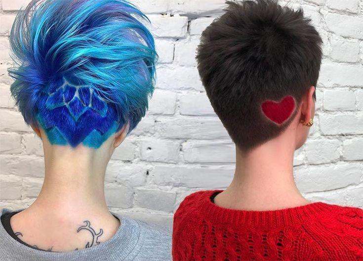 54 Badass Undercut Hair Tattoos für Frauen in der Liebe mit Hair Art #badass #f…