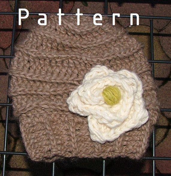 Crochet Pattern - Lucy's white Flower Hat for Girls, Toddler, children hat