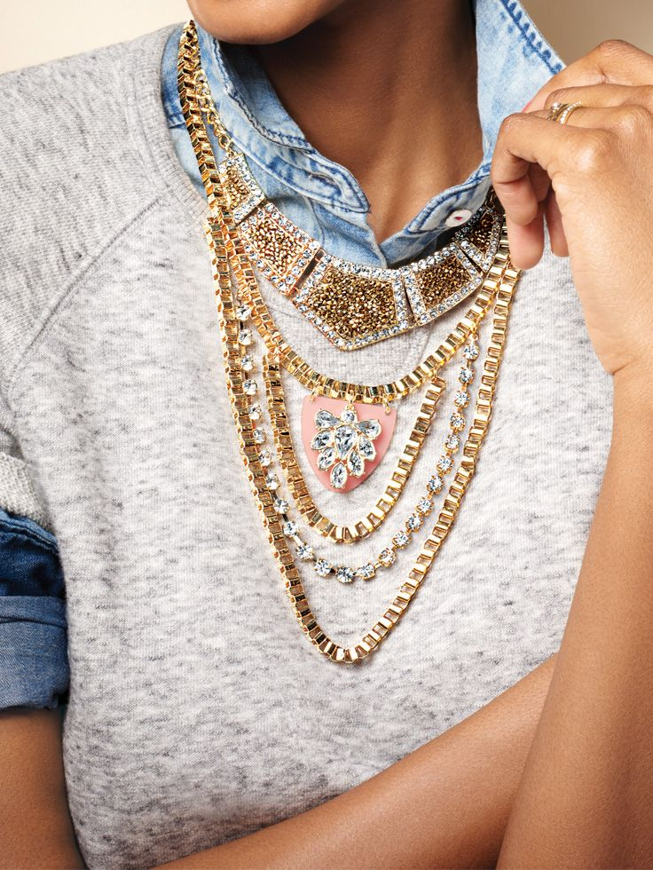 Show off your personal style with new Avon jewelry! Dare to go bold and pile it on or mix up your metals, layer after layer, for a one-of-a-kind look. #AvonRep