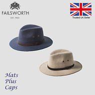 689aca8f Failsworth Irish Linen Safari Summer Fedora UPF 40+ Shower Repellent Hat