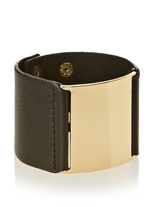 60% OFF Jules Smith Black Wide Leather Bracelet