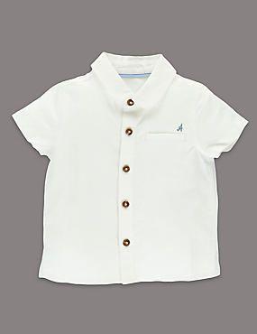Short Sleeve Shirt with Linen