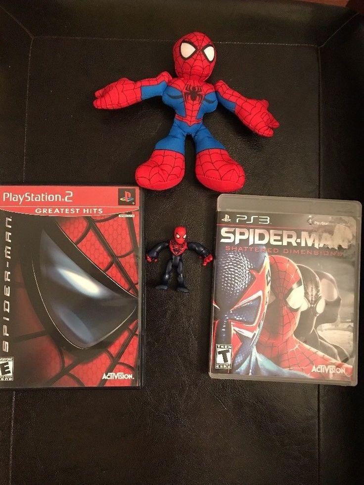 SPIDER-MAN PS2 PS3 Game Bundle W/Action Figure    eBay