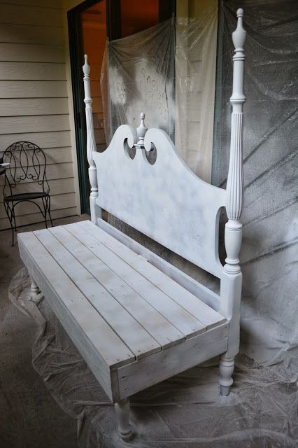 If you have an old headboard you are no longer using then why not make a bench out of it. I am remaking my porch and you can read more about it here. One Room Challenge - Week Four - Porch | Home and Lifestyle Design