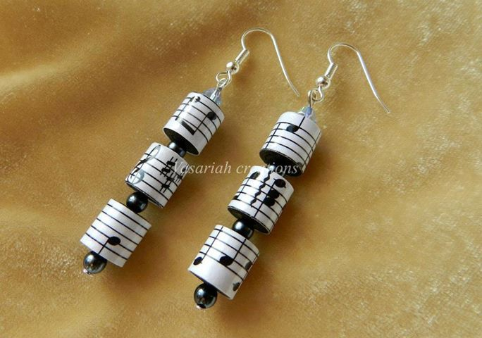 Paper earrings                                                                                                                                                                                 More