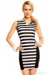 Dámské šaty New Collection bílo-černé
