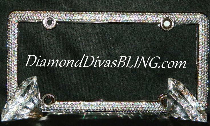 Bling License Plate Covers | Row Rhinestone License Plate Cover