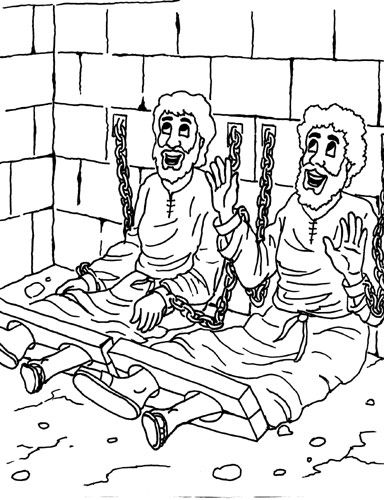 Paulo and silas coloring pages ~ 97 best Bible Colouring Pages images on Pinterest   Sunday ...