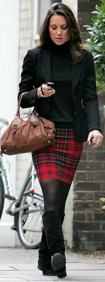 Relatable Style: Kate Middleton Fashion Week - Kate in Plaid