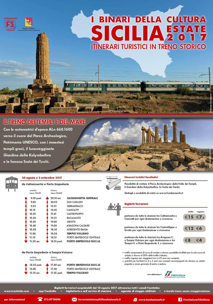 From Caltanissetta to Agrigento by train | August 20th and September 3rd, 2017